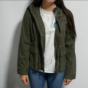 Abercrombie and Fitch olive green hooded jacket